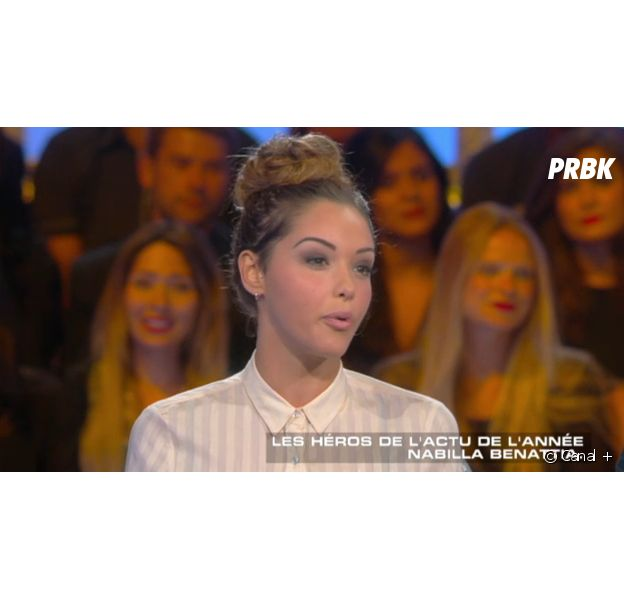 Nabilla Benattia se confie sur sa relation avec son père et Thomas Vergara dans Salut les terriens, sur Canal +, le 12 juillet 2014