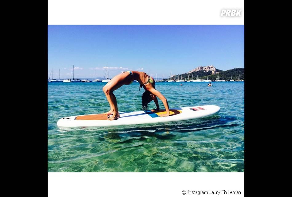 Laury Thilleman sportive pendant ses vacances