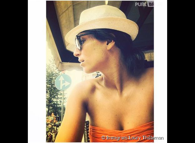 Laury Thilleman en vacances en Italie