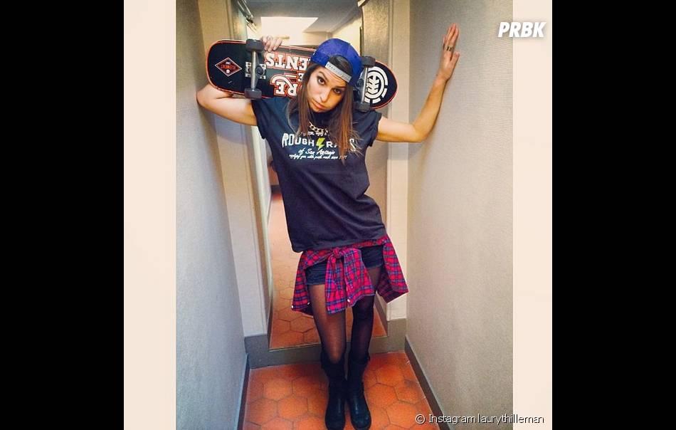 Laury Thilleman pro du skate sur Instagram, le 6 mai 2014