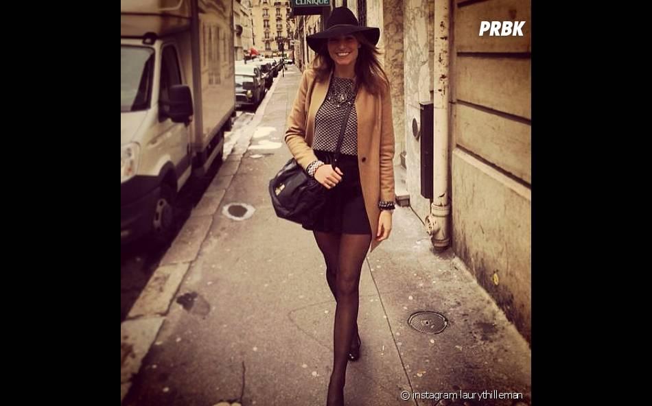 Laury Thilleman sexy pour une balade dans Paris