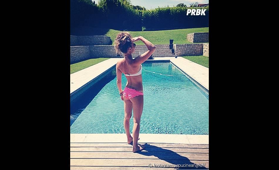 Capucine Anav en bikini sur Instagram, le 31 juillet 2014