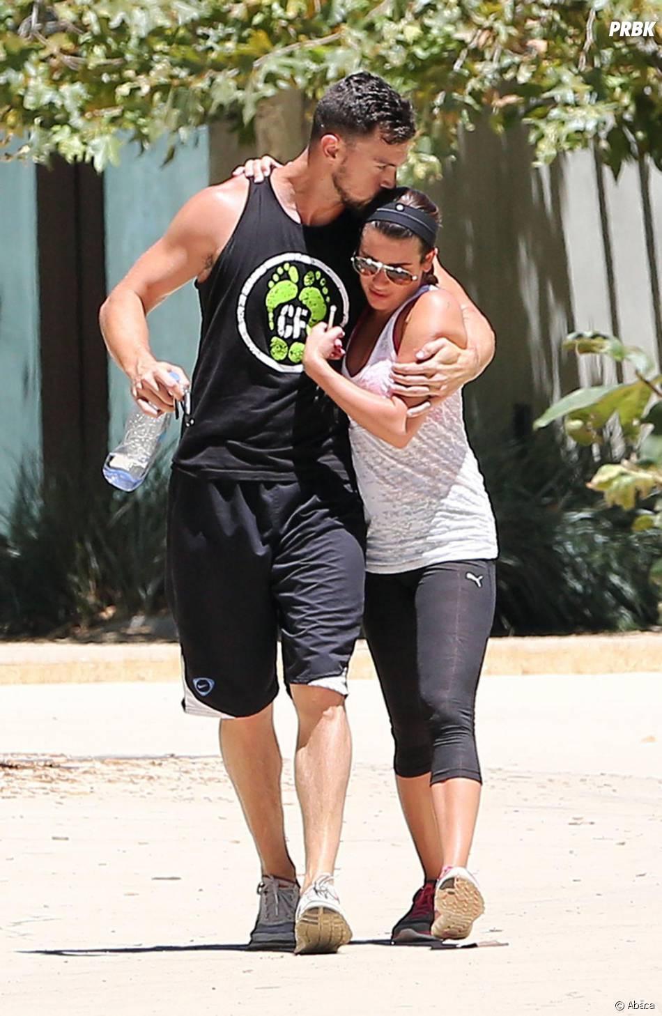 Lea Michele et Matthew Paetz amoureux à Los Angeles, le 5 août 2014