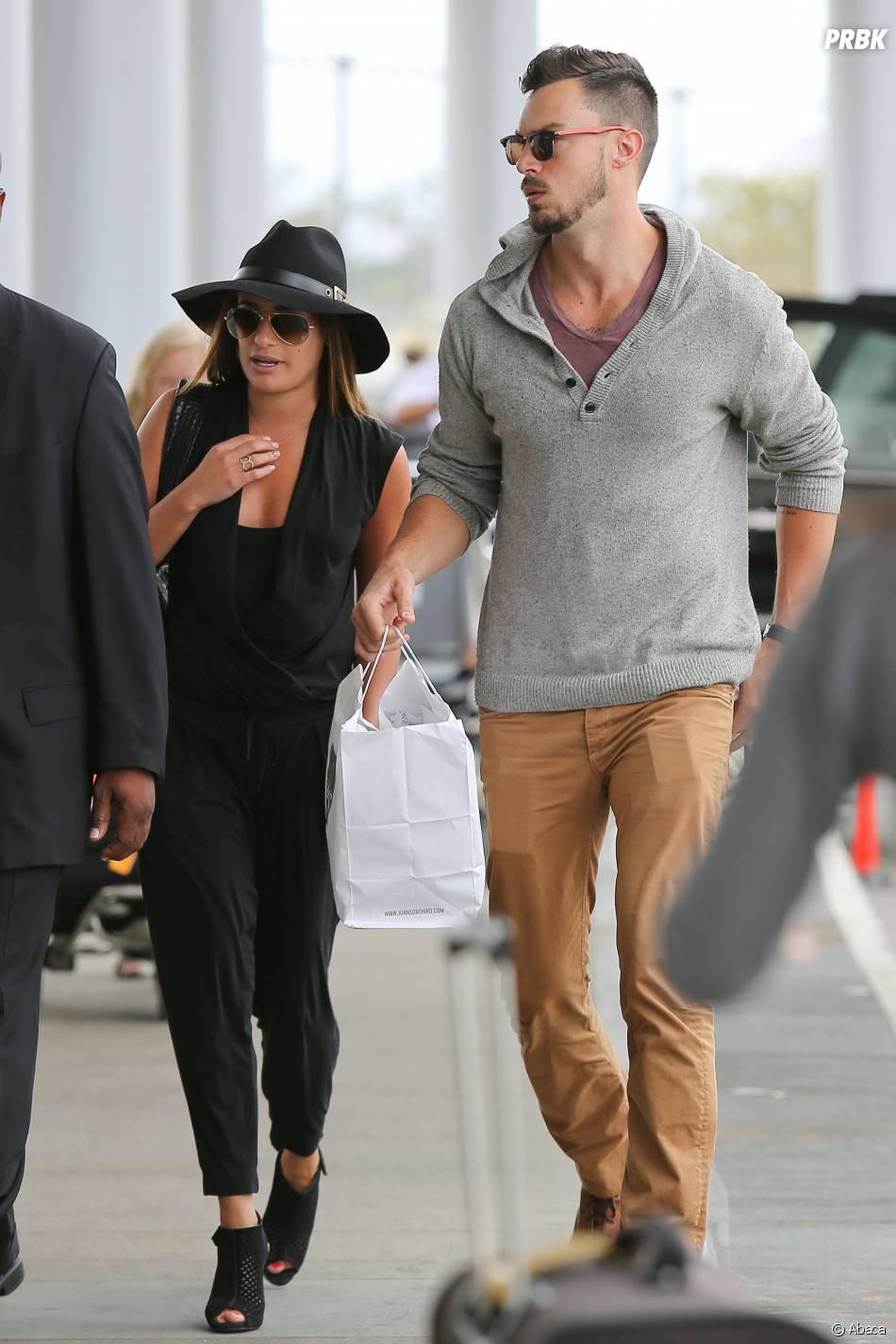 Lea Michele et Matthew Paetz : le couple, ici à l'aéroport de Los Angeles le 15 juillet 2014, emménage ensemble