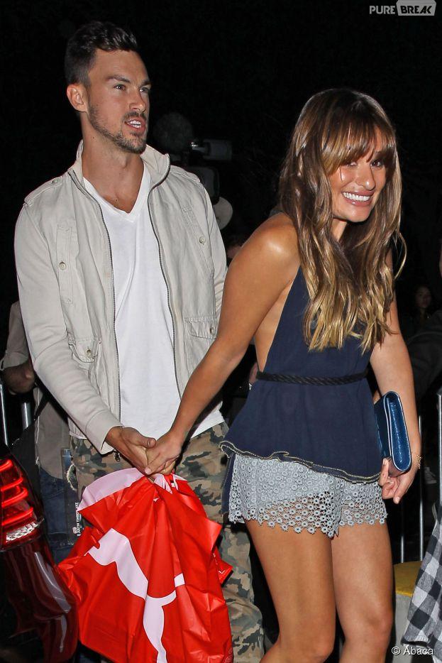 Lea Michele et Matthew Paetz en couple et heureux au concert de Justin Timberlake, le 12 août 2014