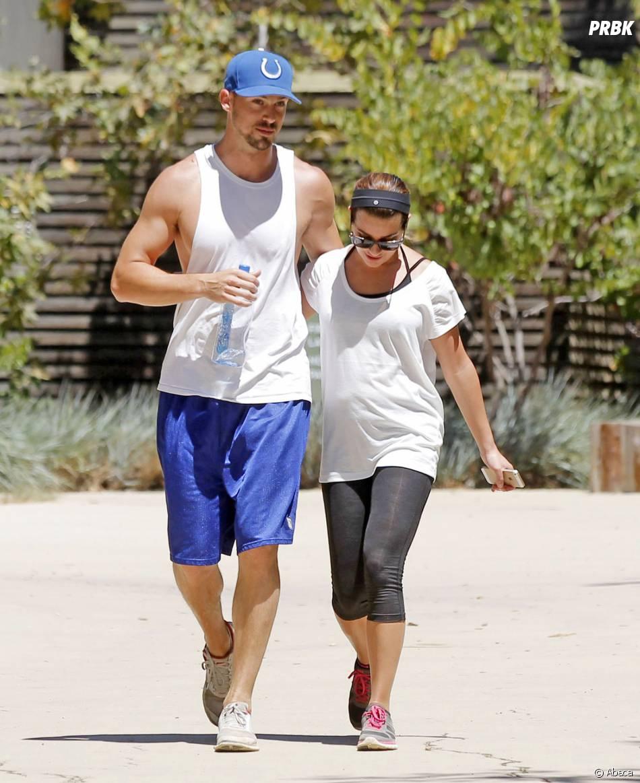Lea Michele et Matthew Paetz : séance de sport à Los Angeles, le 13 août 2014