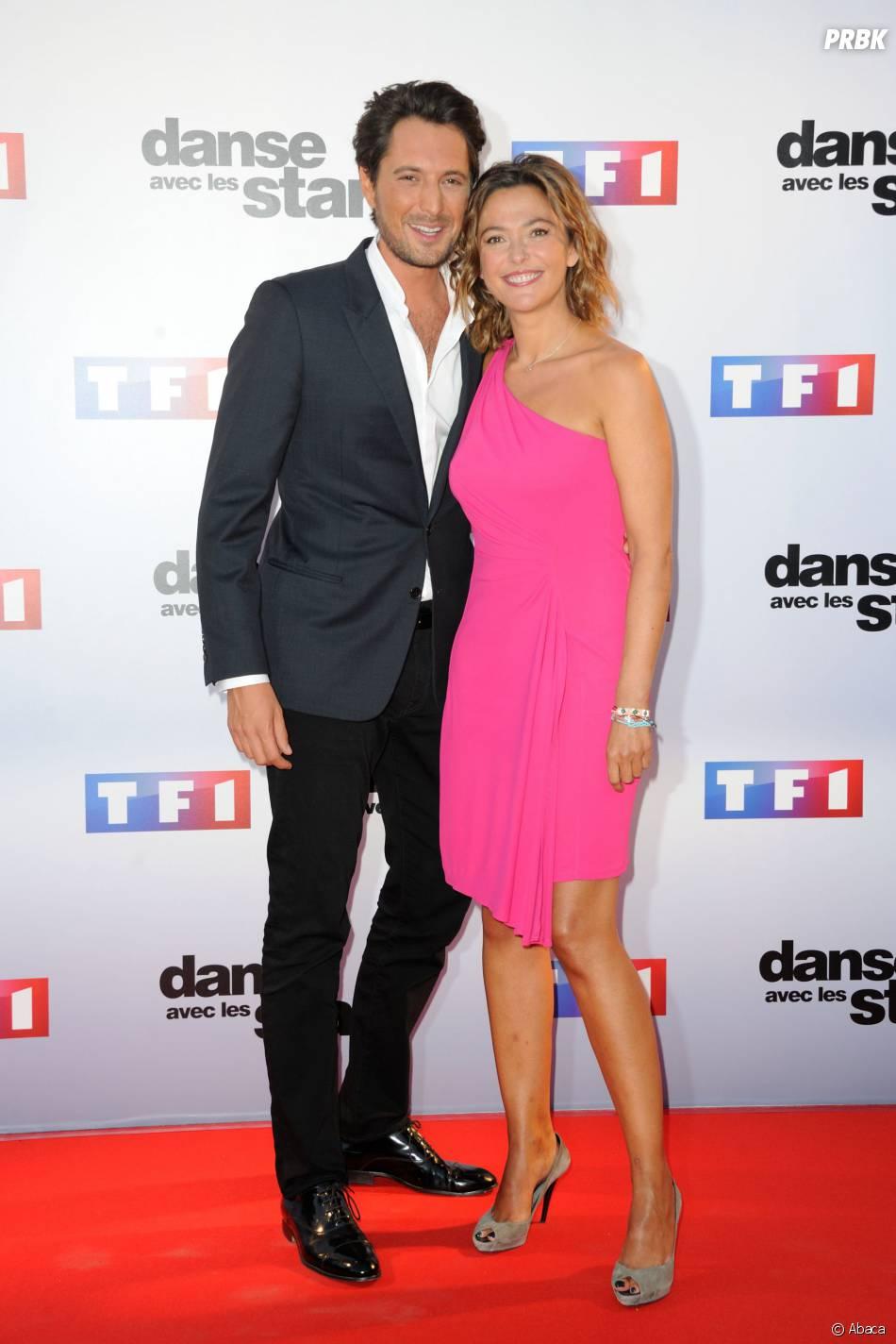 Vincent Cerutti et Sandrine Quétier lors de la conférence de presse de Danse avec les Stars 5 le 10 septembre 2014
