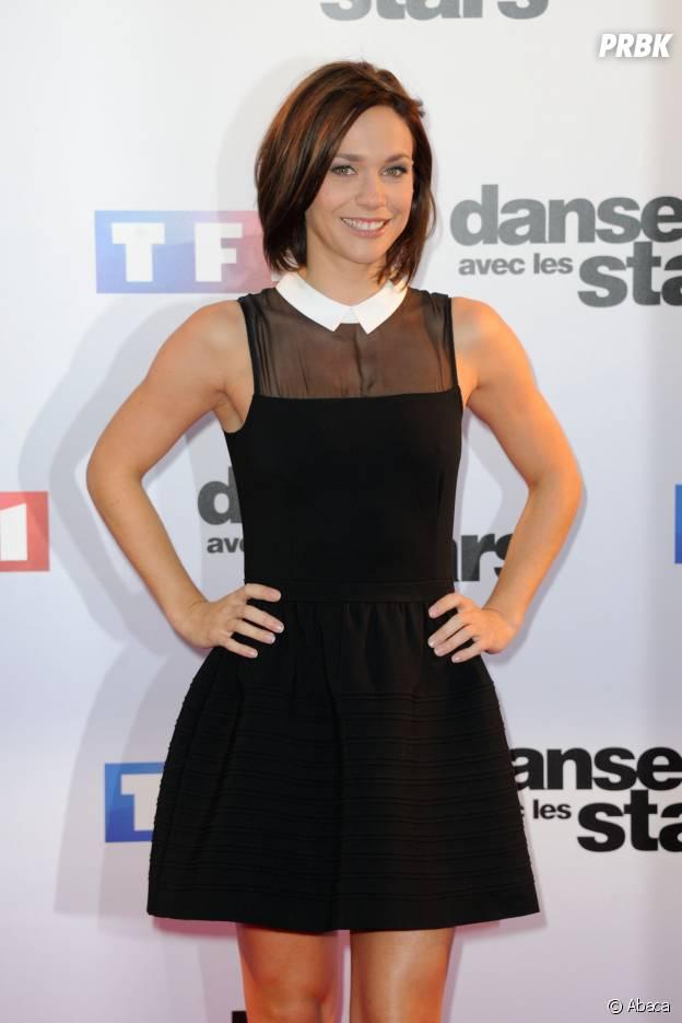 Nathalie Pechalat lors de la conférence de presse de Danse avec les Stars 5 le 10 septembre 2014