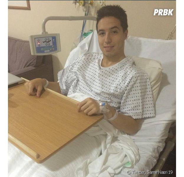 Samir Nasri à l'hôpital suite à une blessure à l'aine