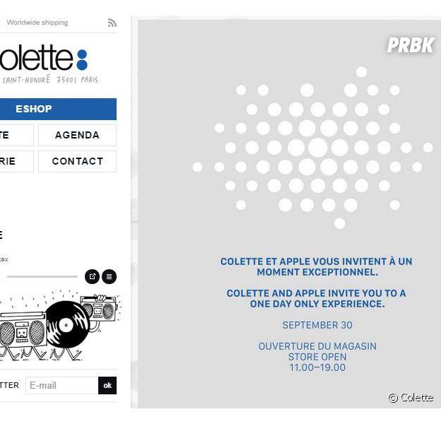 Colette et Apple : rendez-vous mystérieux le 30 septembre 2014