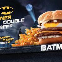 McDonald's : un burger noir... et un burger Batman