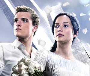 Hunger Games 2 : Jennifer Lawrence et Josh Hutcherson sur une affiche