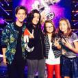 Jenifer sur le tournage de The Voice Kids