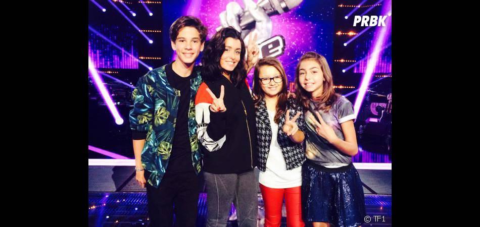 Jenifer sur le tournage de The Voice Kids