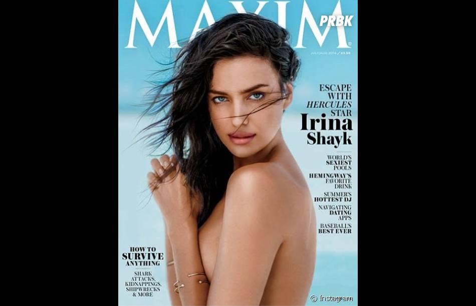 Irina Shayk topless pour la Une du magazine Maxim