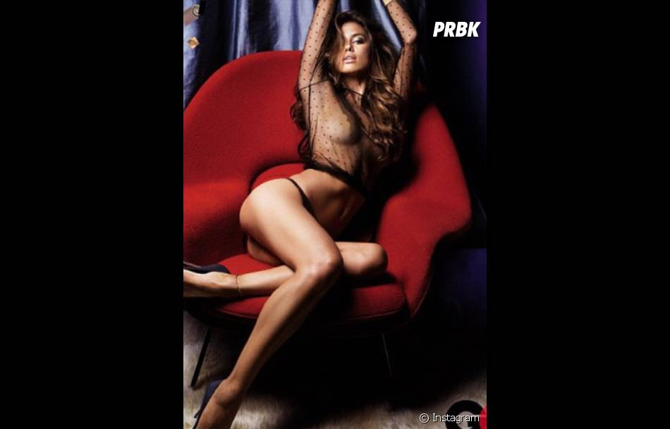 Irina Shayk, topless pour un shooting