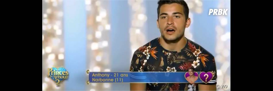 Anthony dans les Princes de l'amour 2 sur W9, épisode du 17 novembre 2014