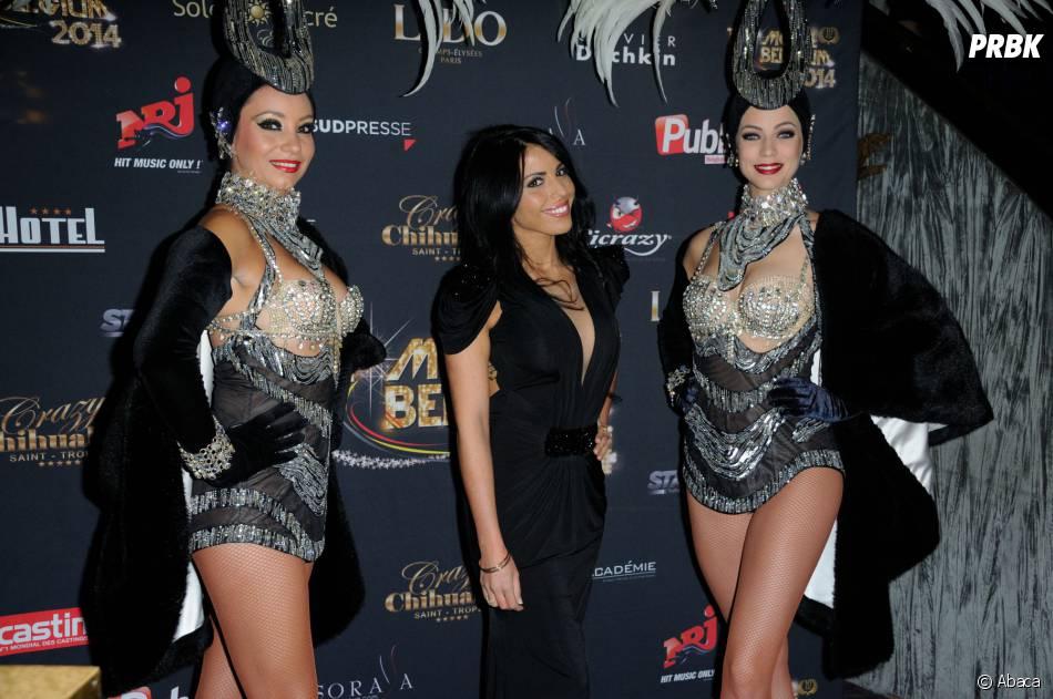 Siham (Le Princes de l'Amour 2) prend la pose pour la finale de Top Model Belgium, le 23 novembre 2014 au Lido à Paris