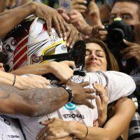 Nicole Scherzinger : larmes de joie après la victoire de Lewis Hamilton en F1