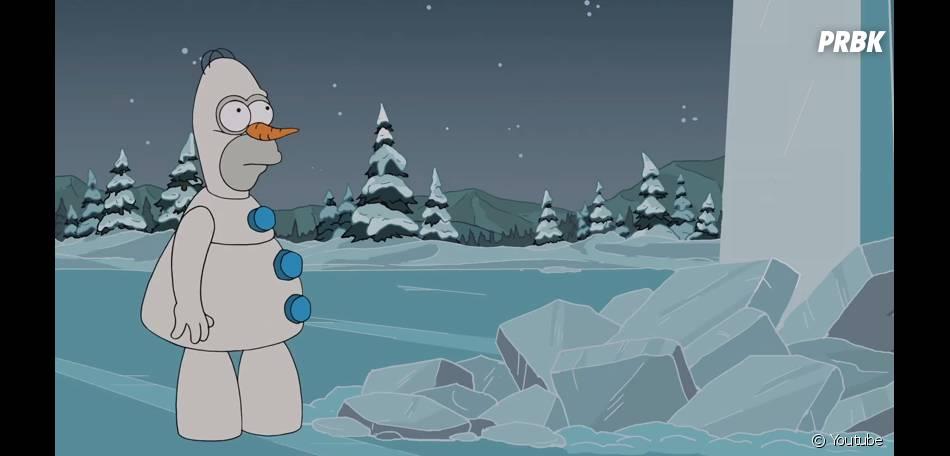 Les Simpson se transforme en Olaf de Frozen