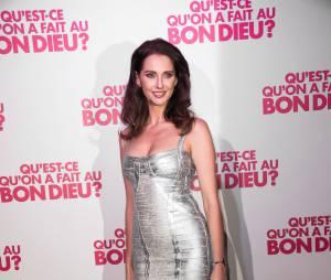 Frédérique Bel fête le succès de Qu'est-ce qu'on a fait au Bon Dieu, le 8 décembre 2014 à Paris