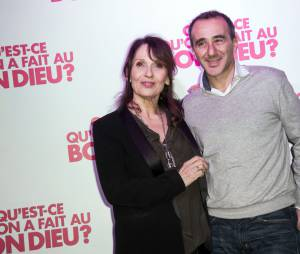 Chantal Lauby et Elie Semoun fêtent le succès de Qu'est-ce qu'on a fait au Bon Dieu, le 8 décembre 2014 à Paris