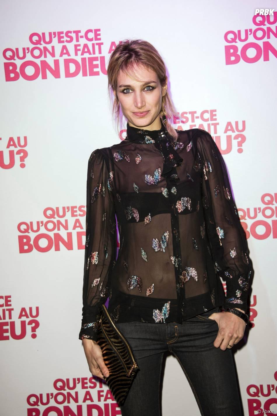 Pauline Lefèvre fête le succès de Qu'est-ce qu'on a fait au Bon Dieu, le 8 décembre 2014 à Paris