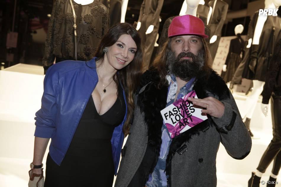 Sébastien Tellier et sa femme à la soirée Jeff Koons pour H&M, le 9 décembre 2014 au Centre Pompidou