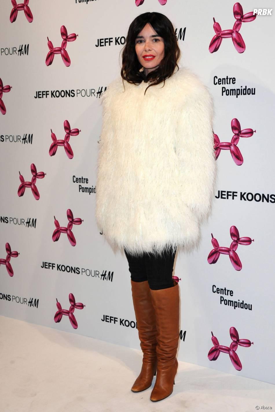 Elodie Bouchez à la soirée Jeff Koons pour H&M, le 9 décembre 2014 au Centre Pompidou