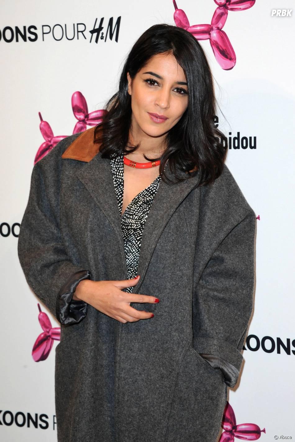 Leïla Bekhti à la soirée Jeff Koons pour H&M, le 9 décembre 2014 au Centre Pompidou