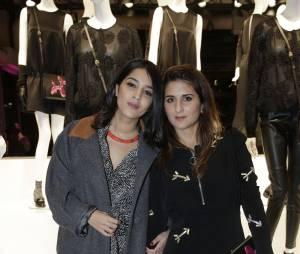 Leïla Bekhti et Géraldine Nakache à la soirée Jeff Koons pour H&M, le 9 décembre 2014 au Centre Pompidou