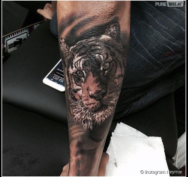 neymar : un nouveau tatouage xl et animal - purebreak
