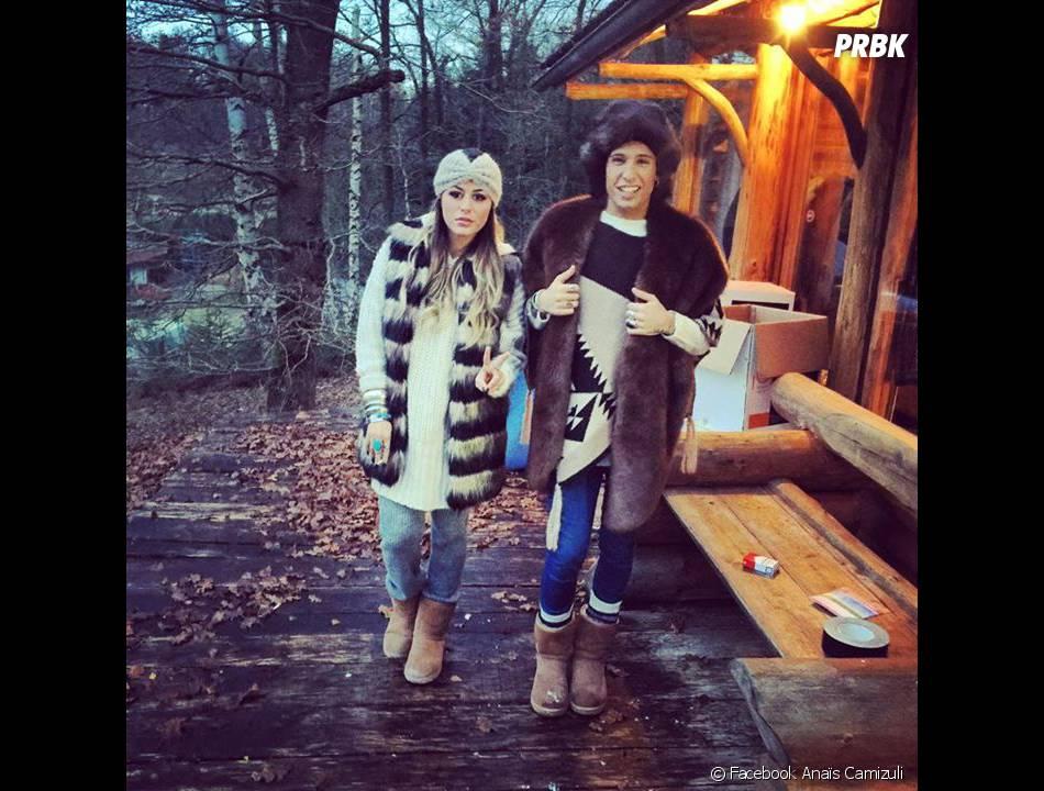 Anaïs Camizuli et Eddy sur le tournage des Anges fêtent Noël