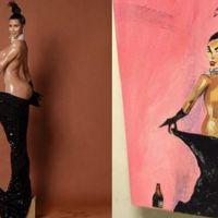 Kim Kardashian : un artiste peint les fesses de la star avec... son pénis