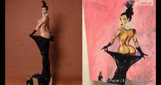 Kim Kardashian : ses fesses peintes avec... un pénis