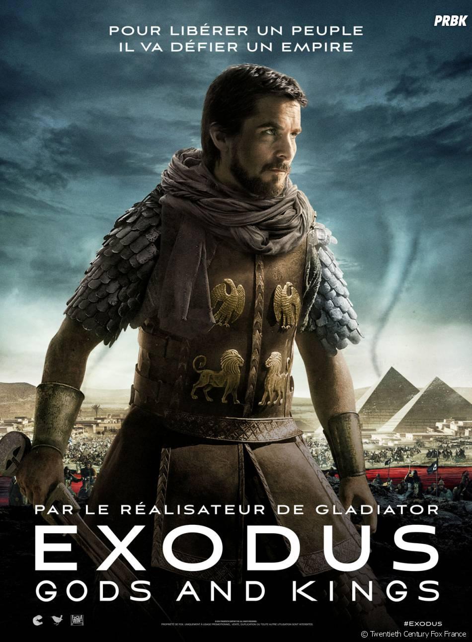 Exodus, Gods and Kings : affiche du film avec Christian Bale