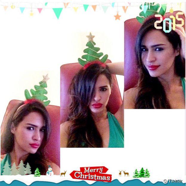 Leila Ben Khalifa souhaite un Joyeux Noël à ses fans sur Twitter, le 25 décembre 2014