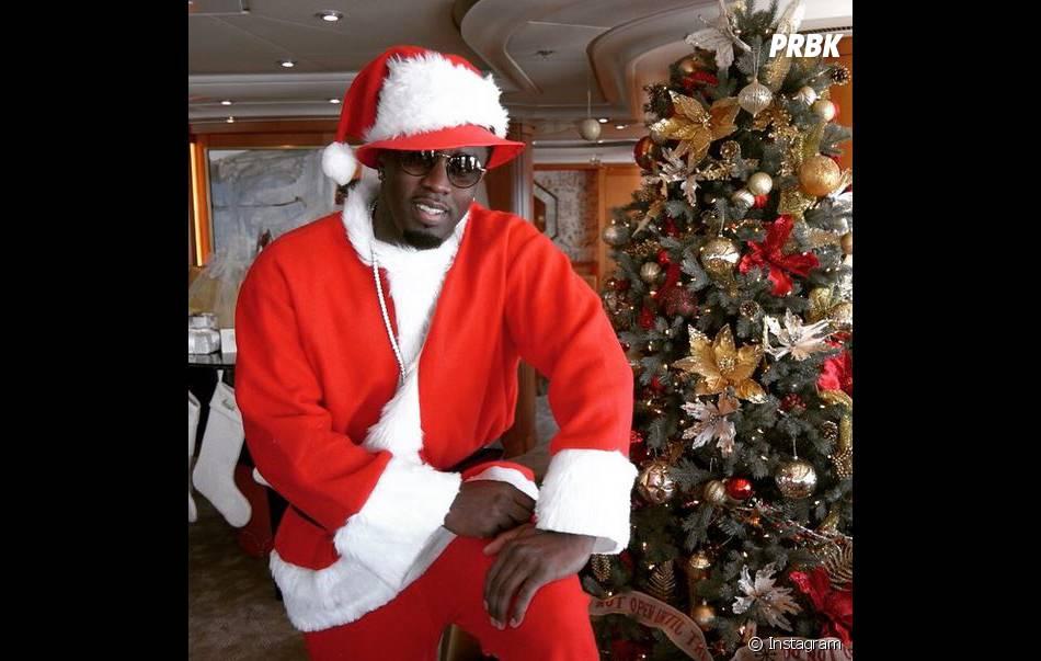 P. Daddy en Père Noël sur Instagram, le 25 décembre 2014