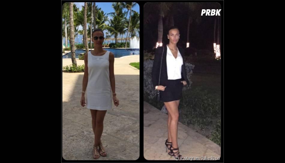 Julie Ricci : son look jour/nuit à Punta Cana en janvier 2015