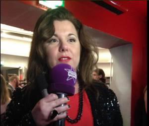 Cindy Lopes en interview lors des Lauriers TV Awards, le 6 janvier 2015, à la Cigale