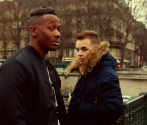 MA2X et Kevin Ekoman dans le clip Happy Today