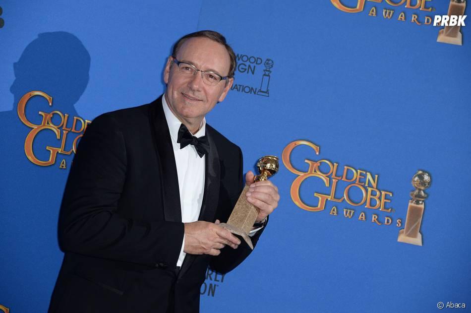Kevin Spacey remporte un Golden Globe le 11 janvier 2015 pour House of Cards