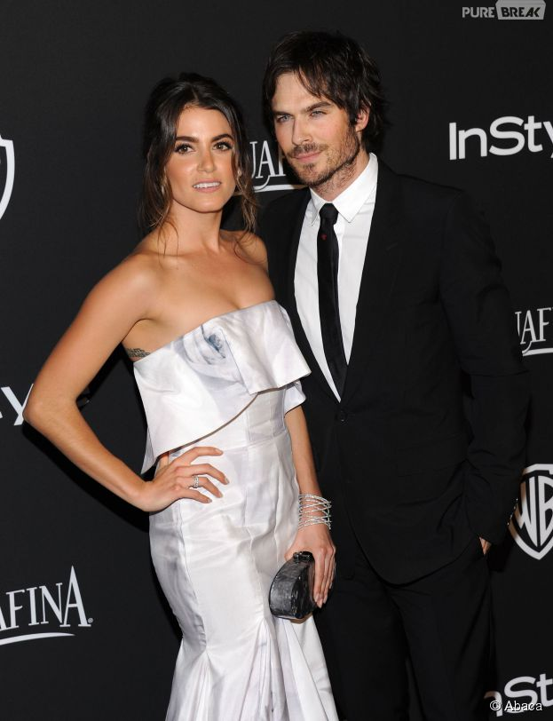 Ian Somerhalder et sa petite amie Nikki Reed en couple à une after-party des Golden Globes 2015