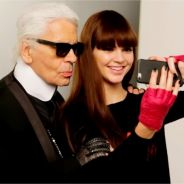 Kendall Jenner souriante mais stressée dans le making-of du shooting avec Karl Lagerfeld