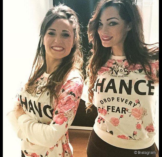 Capucine Anav et Emilie Nef Naf réunies à Milan le 8 février 2015