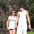 Lea Michele et Matthew Paetz complices, le 8 février 2015 à Los Angeles