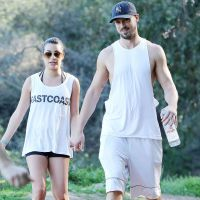 Lea Michele et Matthew Paetz main dans la main pour une journée sportive à LA