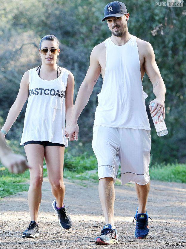 Lea Michele et Matthew Paetz s'offrent une petite virée sportive, le 8 février 2015 à Los Angeles