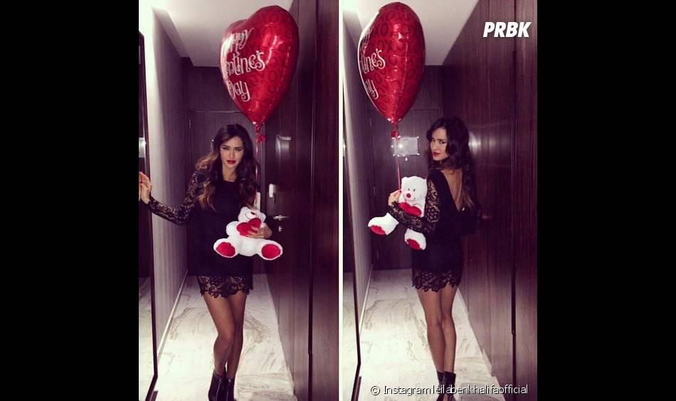 Leila Ben Khalifa sexy pour sa Saint-Valentin avec Aymeric Bonnery