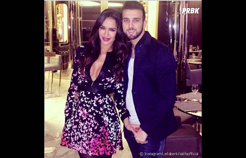 Leila Ben Khalifa sexy pour une soirée avec Aymeric Bonnery, le 13 février 2015
